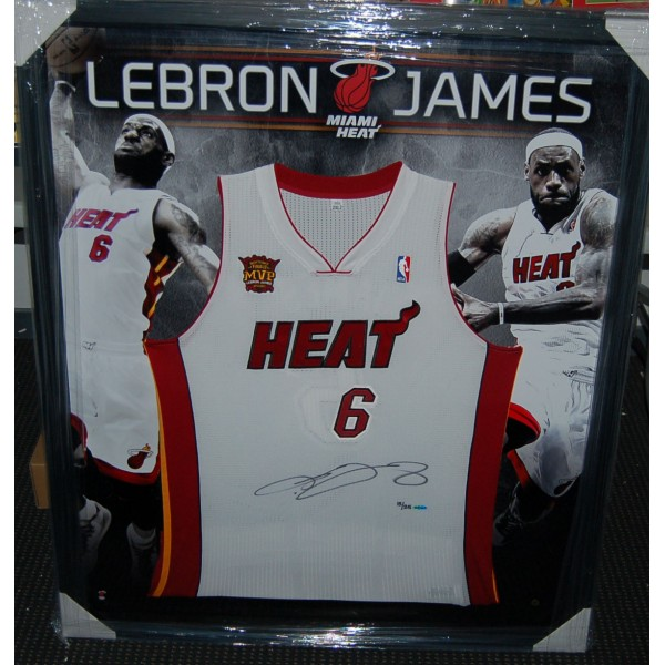 Lebron James Signed And Framed Miami